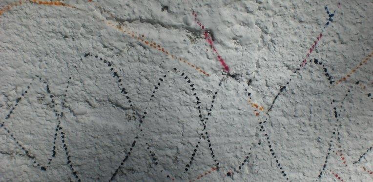 krug: Detail nach dem Sprühen